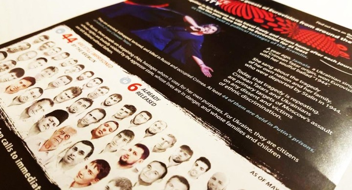 Eurovision guests in Kyiv received leaflets about the 44 Ukrainian hostages of the Kremlin